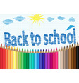 back to school the palette of pencils notebooks vector image