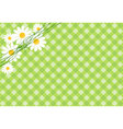 background with daisies vector image
