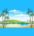 beach at daytime landscape scene with sky vector image vector image