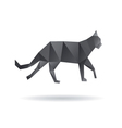 Black cat abstract isolated on a white backgrounds vector image