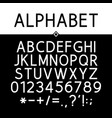 black strict alphabet vector image vector image
