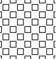Black white seamless square pattern design vector image vector image