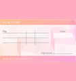 blank bank cheque vector image
