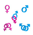 bright men and women gender signs vector image
