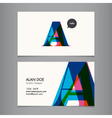 business card template letter vector image vector image