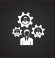 businessman staff management on black background vector image