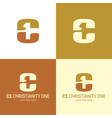 c1 christianity one logo and icon vector image
