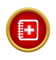 Clinical record icon simple style vector image vector image