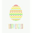 Colorful Happy Easter Greeting Card with vector image vector image