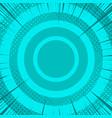 comic turquoise burst concept vector image
