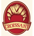 croissant label vector image vector image