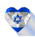 crystal gem jewelry israeli heart vector image