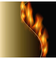 curved fire vector image vector image
