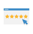customer reviews rating user feedback concept icon vector image