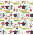 distant learning seamless pattern background vector image