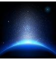 Earth - sunrise in deep blue space EPS 10 vector image vector image
