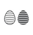 easter egg line and glyph icon easter and vector image vector image