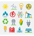Energy colorful icons vector image vector image