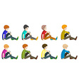 Faceless men sitting down vector image vector image