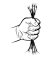 Fist and barbed wire vector image vector image
