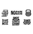fitness typographic sport poster motivational vector image vector image