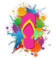 Flip flops paint splash background vector image