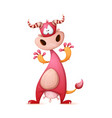 funny cute crazy cartoon characters vector image