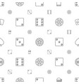 gamble icons pattern seamless white background vector image vector image