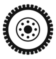 Gear wheel icon simple style vector image vector image