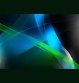 glowing streaks on dark background vector image