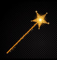 gold glittering magic stick star dust trail vector image vector image