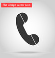 handset of the landline home phone icon flat vector image vector image