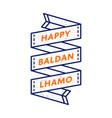 happy baldan lhamo greeting emblem vector image vector image