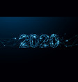 happy new year 2020 banner form lines and particle vector image vector image