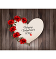 Happy Valentines Day background Retro greeting vector image vector image