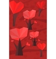 heart trees vector image vector image