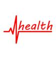 inscription health vector image