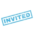 Invited Rubber Stamp vector image vector image