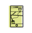 isolated smartphone design vector image vector image