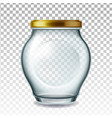 jar glass with golden cap for pickled fruit vector image vector image