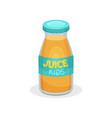 juice for kids flat icon of small glass vector image