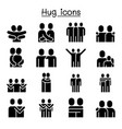 love hug friendship relationship icon set graphic vector image vector image