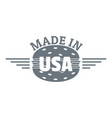 made in usa logo simple style vector image