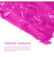 magenta pink rose marble watercolor vector image