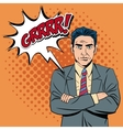 Man bubble and pop art style design vector image vector image