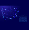 map bulgaria from the contours network blue vector image
