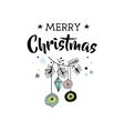 Merry Christmas greeting cards with Xmas tree vector image vector image