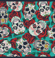 mexican day dead seamless pattern vector image vector image