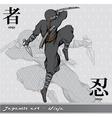 Ninja with kanji