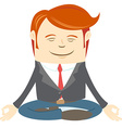 Office man meditating vector image vector image